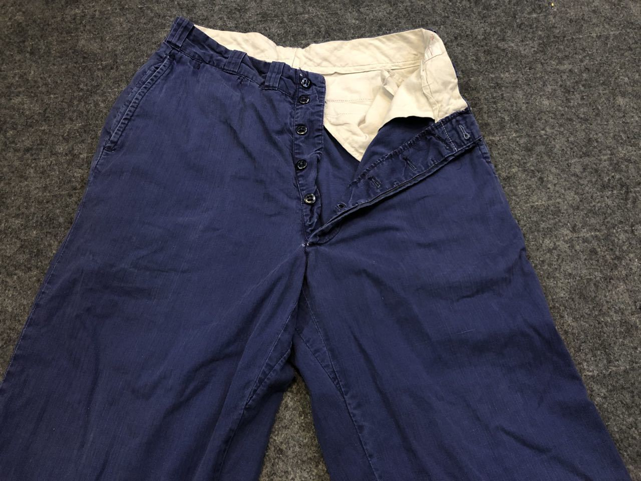アメリカ仕入れ情報#34 3/14入荷!50s all cotton  HBT NAVY WORK PANTS!_c0144020_09042680.jpg