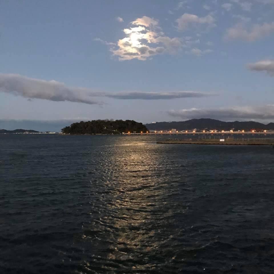 月と竹島_d0166534_16255997.jpg