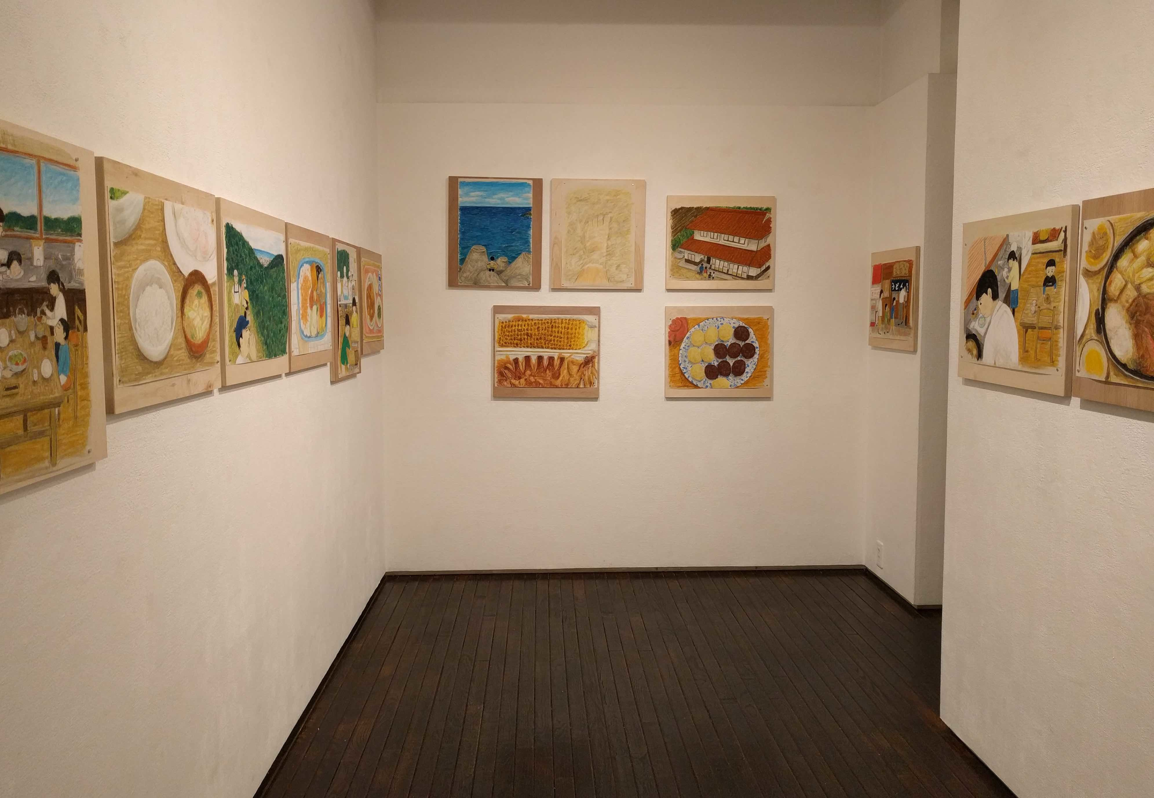絵本『おなかがへった』原画展 at itohen_a0265743_20123117.jpg