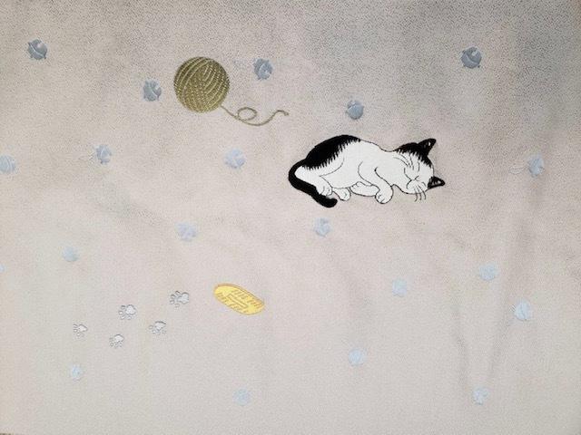 西陣まいづる新作猫名古屋帯とモデルさん・京都の河津桜。_f0181251_17585706.jpg