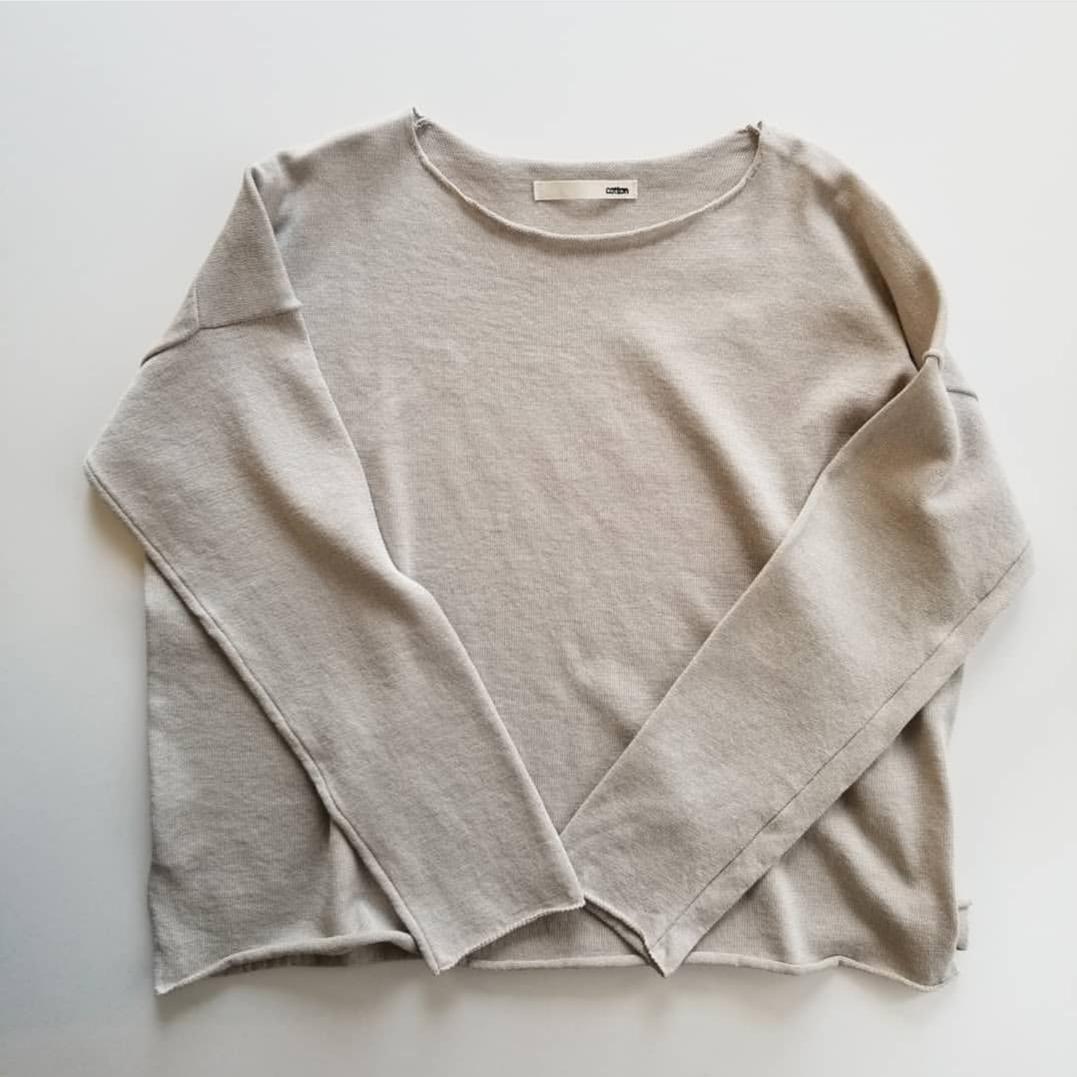 evam evadry cotton pulloverwashable linen V necked pullover_f0120026_08221357.jpg