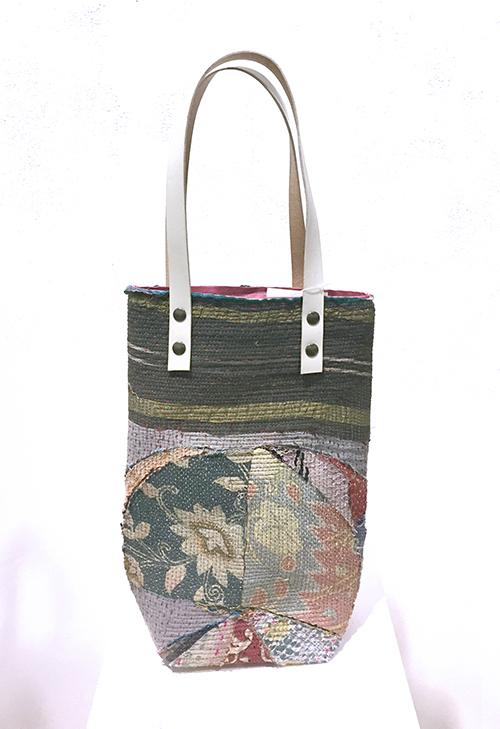 手仕事の古布を手仕事のバッグに【marico kawamoto linnelle -ad lib toto 2(アド リブ トート 2】_a0017350_03454628.jpg