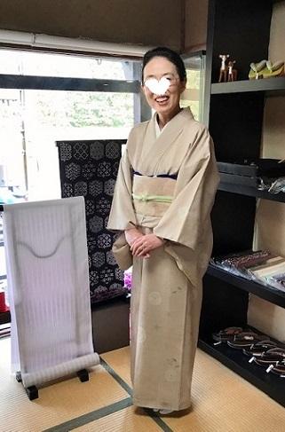山本由季さんの春らしいお花の着物と桜の帯のお客様。_f0181251_18061755.jpg