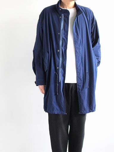 Porter Classic SUPER NYLON STRETCH MILITARY COAT / BLUE_b0139281_20292886.jpg