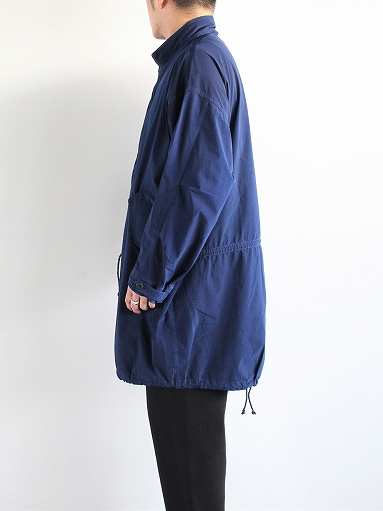 Porter Classic SUPER NYLON STRETCH MILITARY COAT / BLUE_b0139281_20302738.jpg