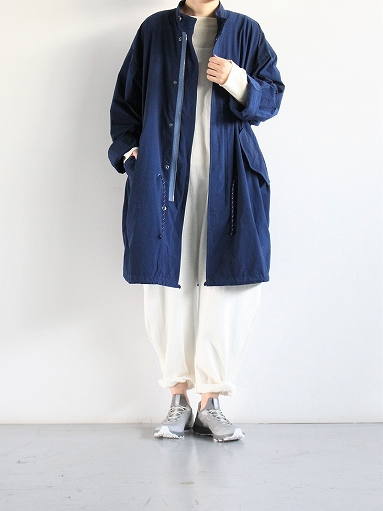 Porter Classic SUPER NYLON STRETCH MILITARY COAT / BLUE_b0139281_20312850.jpg