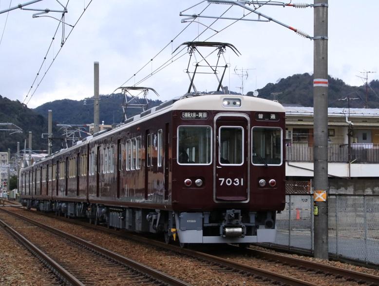 阪急7000系 7031F 検査明け 箕面線_d0202264_1235382.jpg