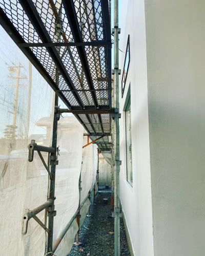 愛知県豊橋市H様 新築住宅工事その6 MORTEX  塗装工事開始!_c0180474_23021523.jpg