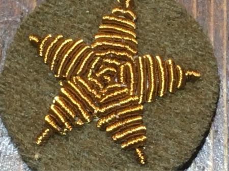 陸軍昭和18年制定三式将校用袖星・大将 大佐 大尉共通使用。_a0154482_04252191.jpg