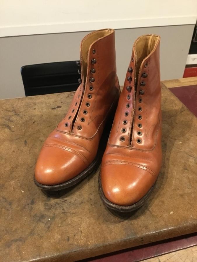 【旧ロゴGRENSON】古靴に残った古クリームを落とす_f0283816_12153308.jpg