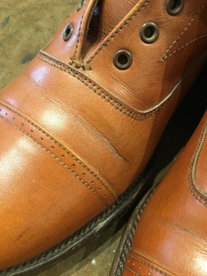 【旧ロゴGRENSON】古靴に残った古クリームを落とす_f0283816_12153417.jpg