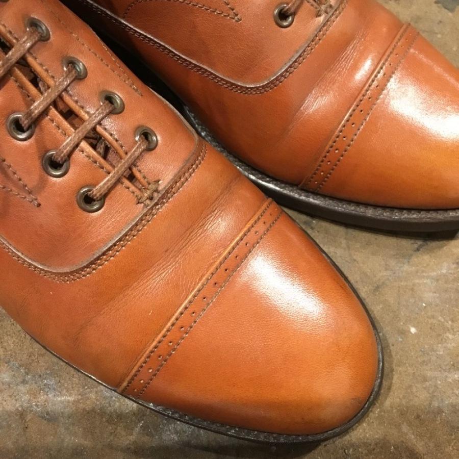 【旧ロゴGRENSON】古靴に残った古クリームを落とす_f0283816_12153672.jpg