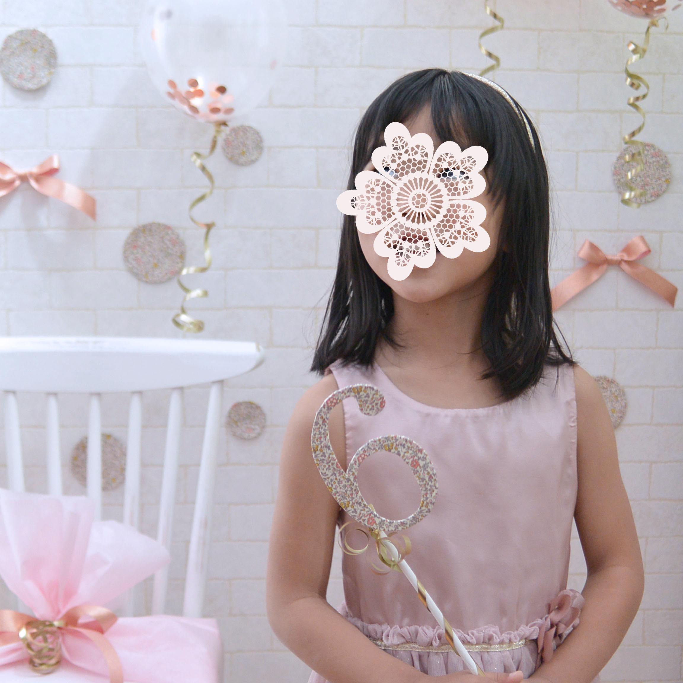 ◆デコパージュ*6歳ナンバースティック_f0251032_17452916.jpg