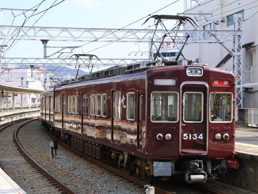 阪急5100系 5134F 平井車庫 回送_d0202264_11104076.jpg