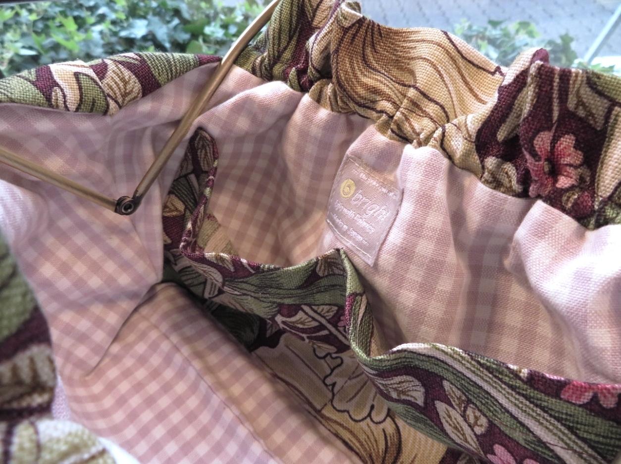 ウィリアムモリス ポーチバッグ『ピンパーネル』 モリス正規販売店のブライト_c0157866_11213224.jpg