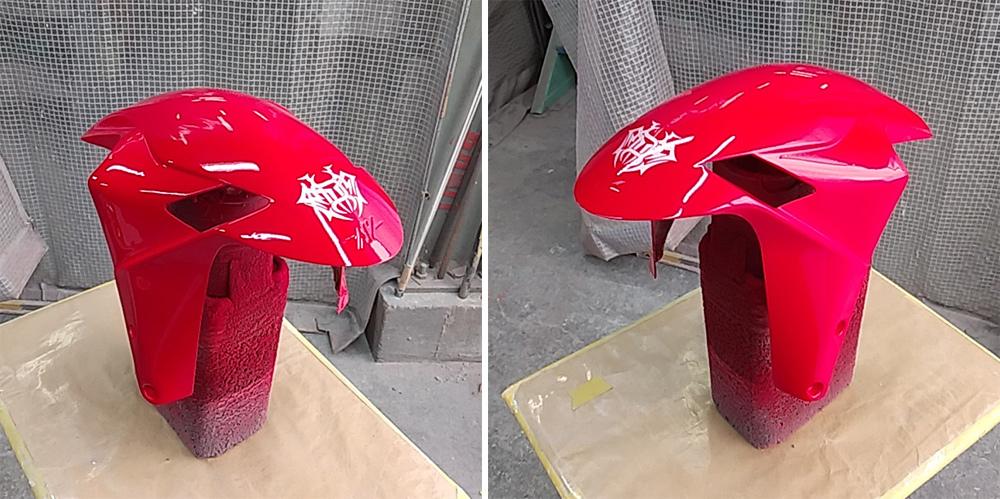 MVアグスタのカウル類の塗装終了。MV Agusta F3 RCだよ。その3。_d0130115_17381553.jpg