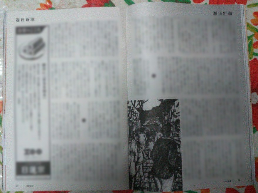 週刊新潮「雷神」挿絵 第1回〜10回_b0136144_16421789.jpg