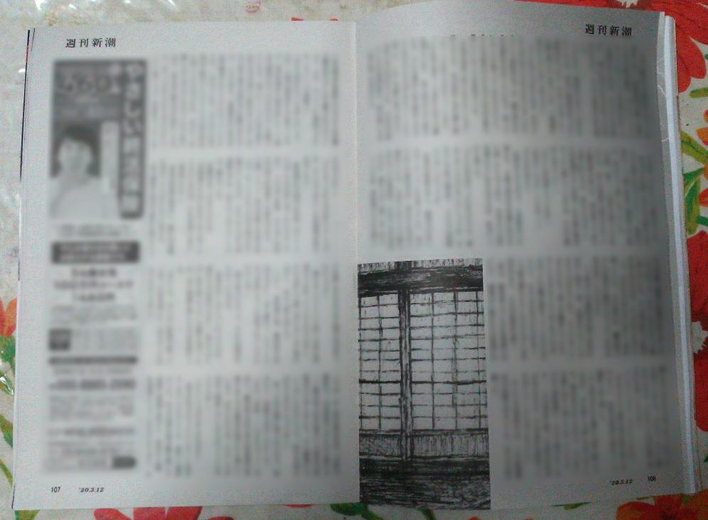 週刊新潮「雷神」挿絵 第1回〜10回_b0136144_16435715.jpg