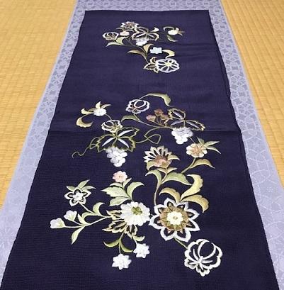 商品紹介・岡重南蛮染帯+豪華な刺繍の帯揚や小物。_f0181251_18201018.jpg