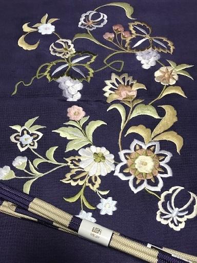 商品紹介・岡重南蛮染帯+豪華な刺繍の帯揚や小物。_f0181251_18220282.jpg