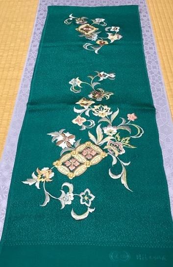 商品紹介・岡重南蛮染帯+豪華な刺繍の帯揚や小物。_f0181251_18244729.jpg