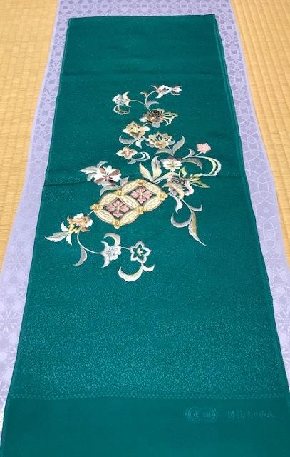 商品紹介・岡重南蛮染帯+豪華な刺繍の帯揚や小物。_f0181251_18251688.jpg