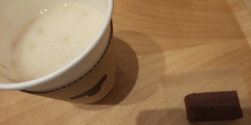 今日のような北風の日には、TORAYA CAFEあんスタンドのあんペースト甘酒 #山田パンダおやつ_b0096957_19062138.jpg