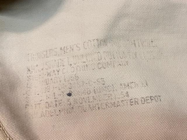 3月18日(水)マグネッツ大阪店ヴィンテージボトムス入荷!! #5 1940\'~50\'s ArmyChino M-41,43,45.52編 MetalButton & DoubleStitch!!_c0078587_22532846.jpg