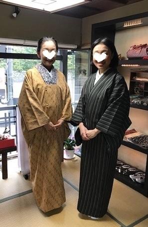 お茶会の帰りにご来店の、お友達同士のお客様。_f0181251_19032911.jpg