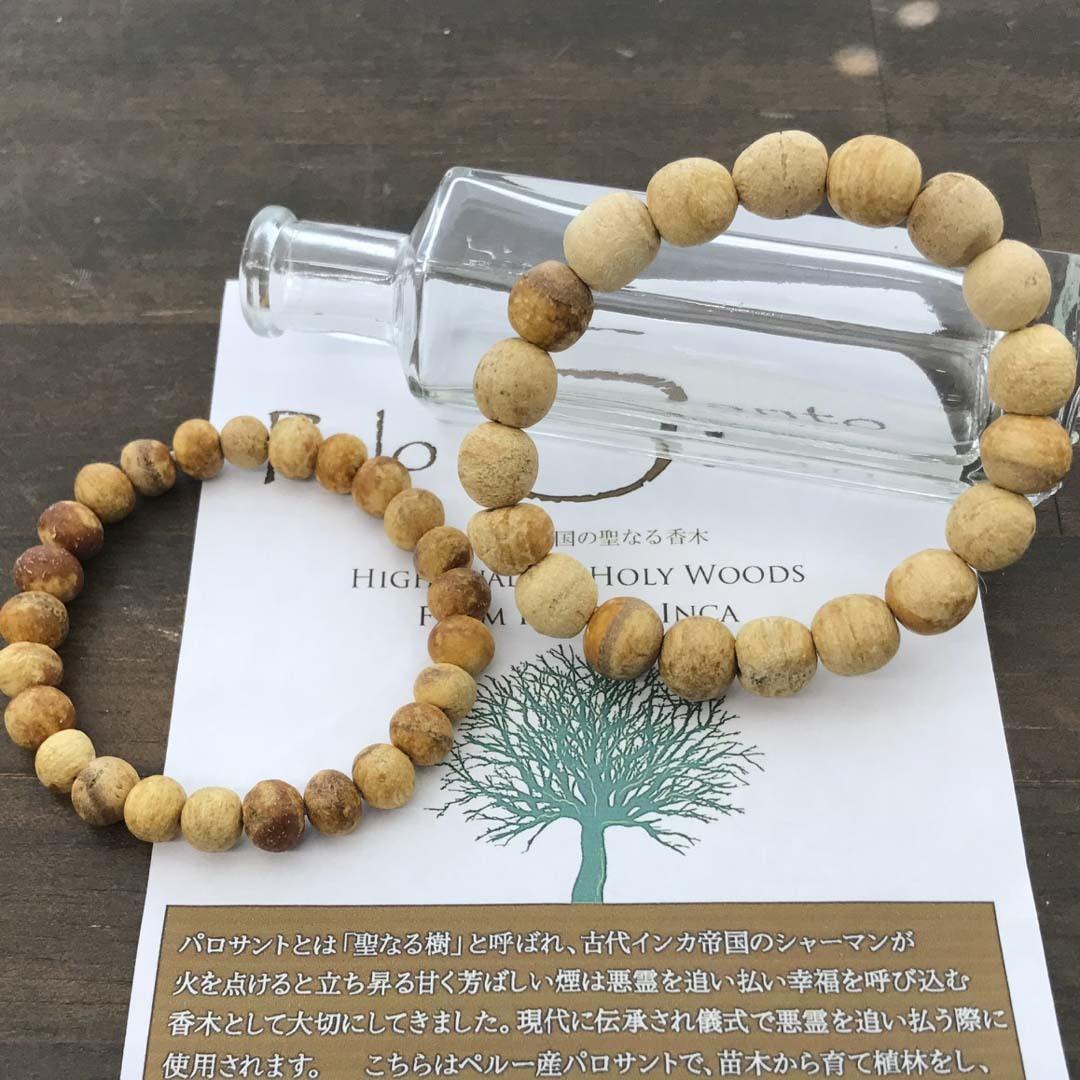 癒しと幸運を届ける聖なる木「パロサント」のブレスレット_d0303974_11315452.jpg