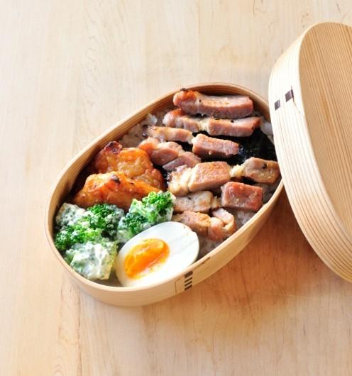 冷めても美味しい簡単おかず 豚の味噌漬け弁当_b0171098_08214237.jpg