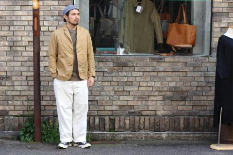 "「WORKERS」 \""Lounge Jacket, Light Chino, Sand Beige\"" ご紹介_f0191324_08150714.jpg"
