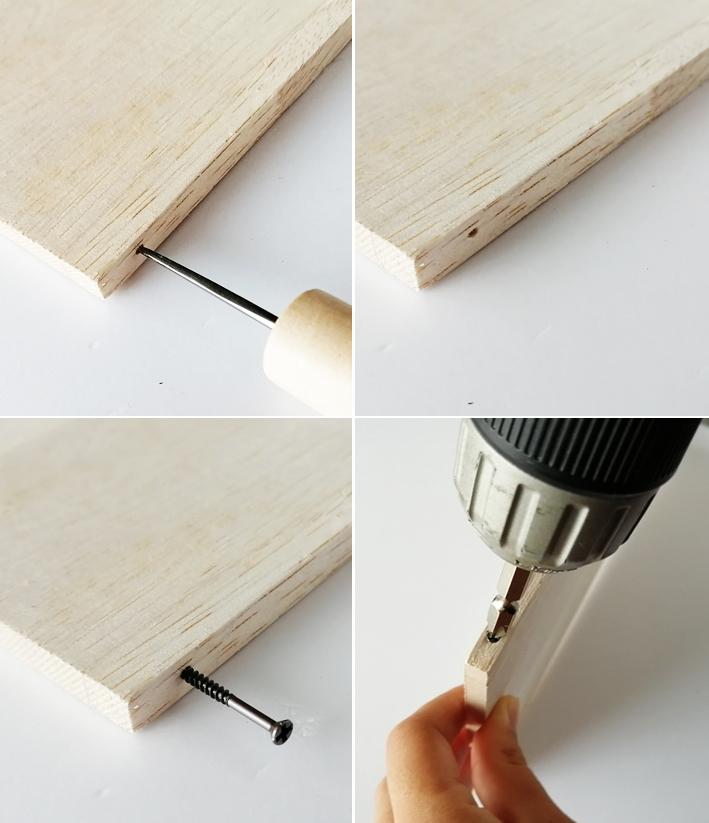 組み合わせるだけ☆セリアの木板で時短DIY☆_d0351435_08514333.jpg
