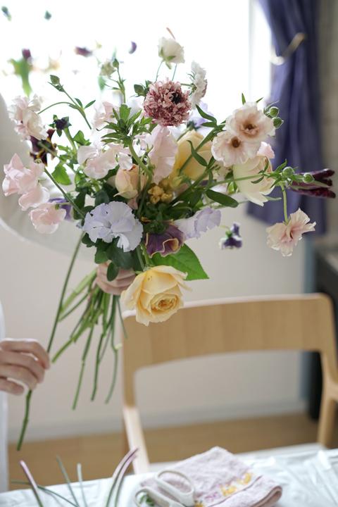 2月のレッスン ナチュラルな花束 1_f0127281_19323568.jpg