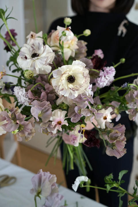 2月のレッスン ナチュラルな花束 3_f0127281_19540066.jpg