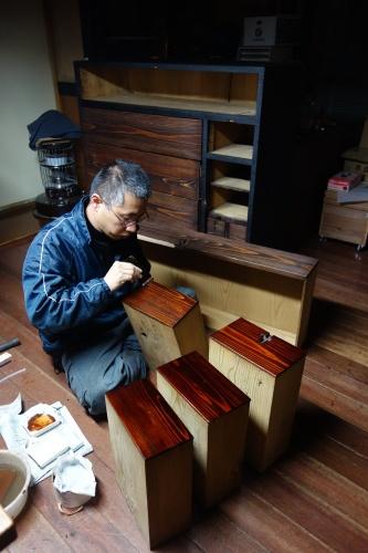 古い和家具のリメイク 2020.03.19_c0213599_23341210.jpg