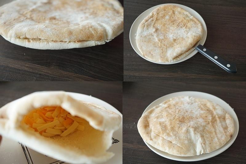 コストコレシピ(Pita Bread・マーブルシュレッドチーズ)_d0269651_14145199.jpg