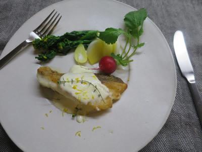 鱈のレモンクリームソース_e0262651_18465378.jpg