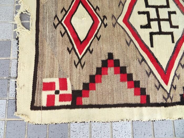 ~20\'s Navajo Swastika Rug + 今週末も新商品大量投入致します !!_e0187362_13392747.jpg