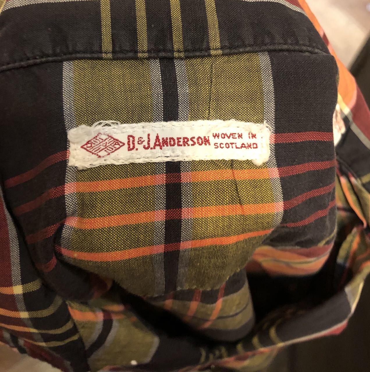 3月21日(土)入荷!60s all cottn D&J Anderson オープンカラーシャツ!_c0144020_16595248.jpg