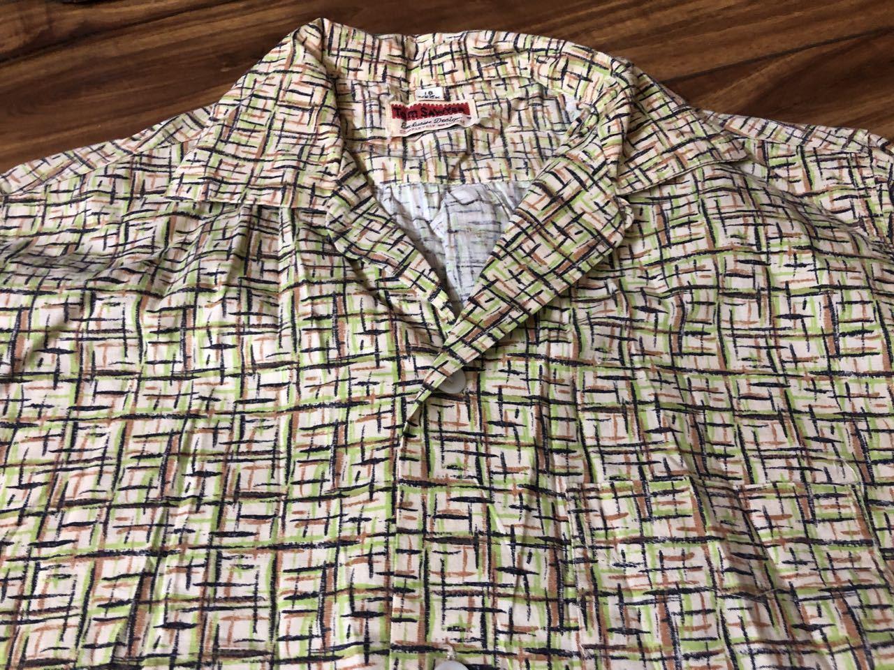 3月21日(土)入荷! 50s all cotton Tom Sawyer カスリ柄シャツ!_c0144020_17123043.jpg