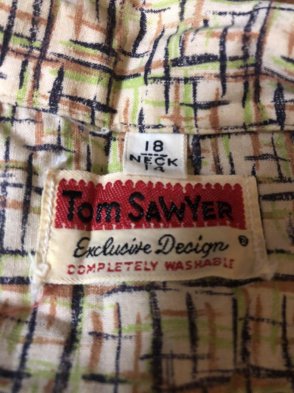 3月21日(土)入荷! 50s all cotton Tom Sawyer カスリ柄シャツ!_c0144020_17123419.jpg