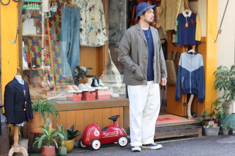 "「orSlow」 ユーロワークな雰囲気を持つ ""LOOSE FIT TAILORED JACKET\"" ご紹介_f0191324_08144822.jpg"