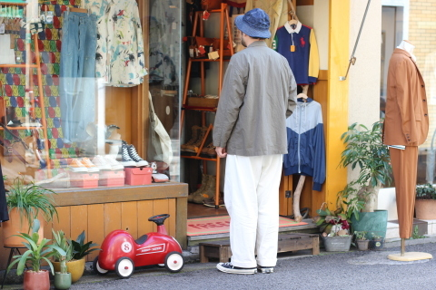 "「orSlow」 ユーロワークな雰囲気を持つ ""LOOSE FIT TAILORED JACKET\"" ご紹介_f0191324_08145651.jpg"