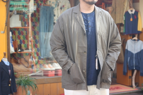 "「orSlow」 ユーロワークな雰囲気を持つ ""LOOSE FIT TAILORED JACKET\"" ご紹介_f0191324_08150435.jpg"