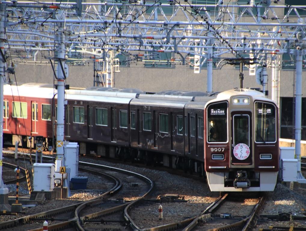 阪急9000系 9007F 2020年 さくら看板車_d0202264_20394958.jpg