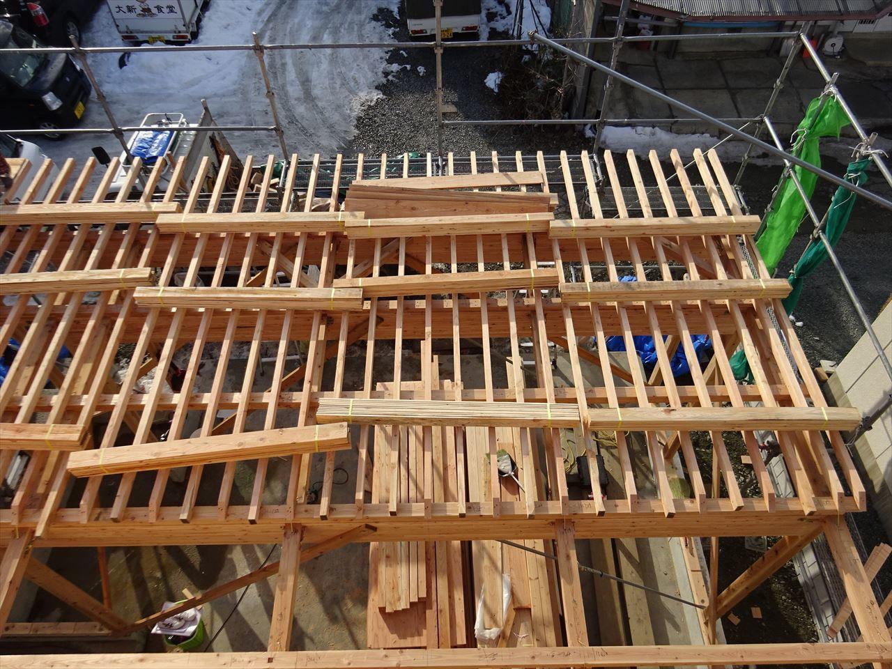 緑ヶ丘 アトリエのある家 建て方進行中!_f0105112_04110656.jpg