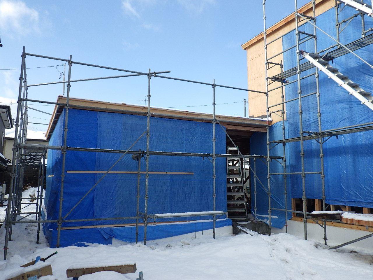 緑ヶ丘 アトリエのある家 建て方進行中!_f0105112_04223701.jpg
