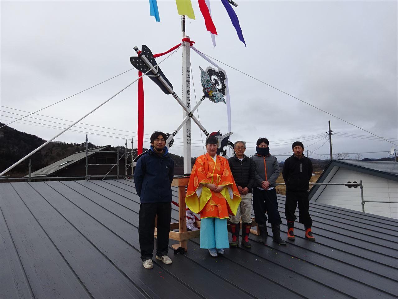 田沢湖の家 上棟式を執り行いました!_f0105112_16303430.jpg
