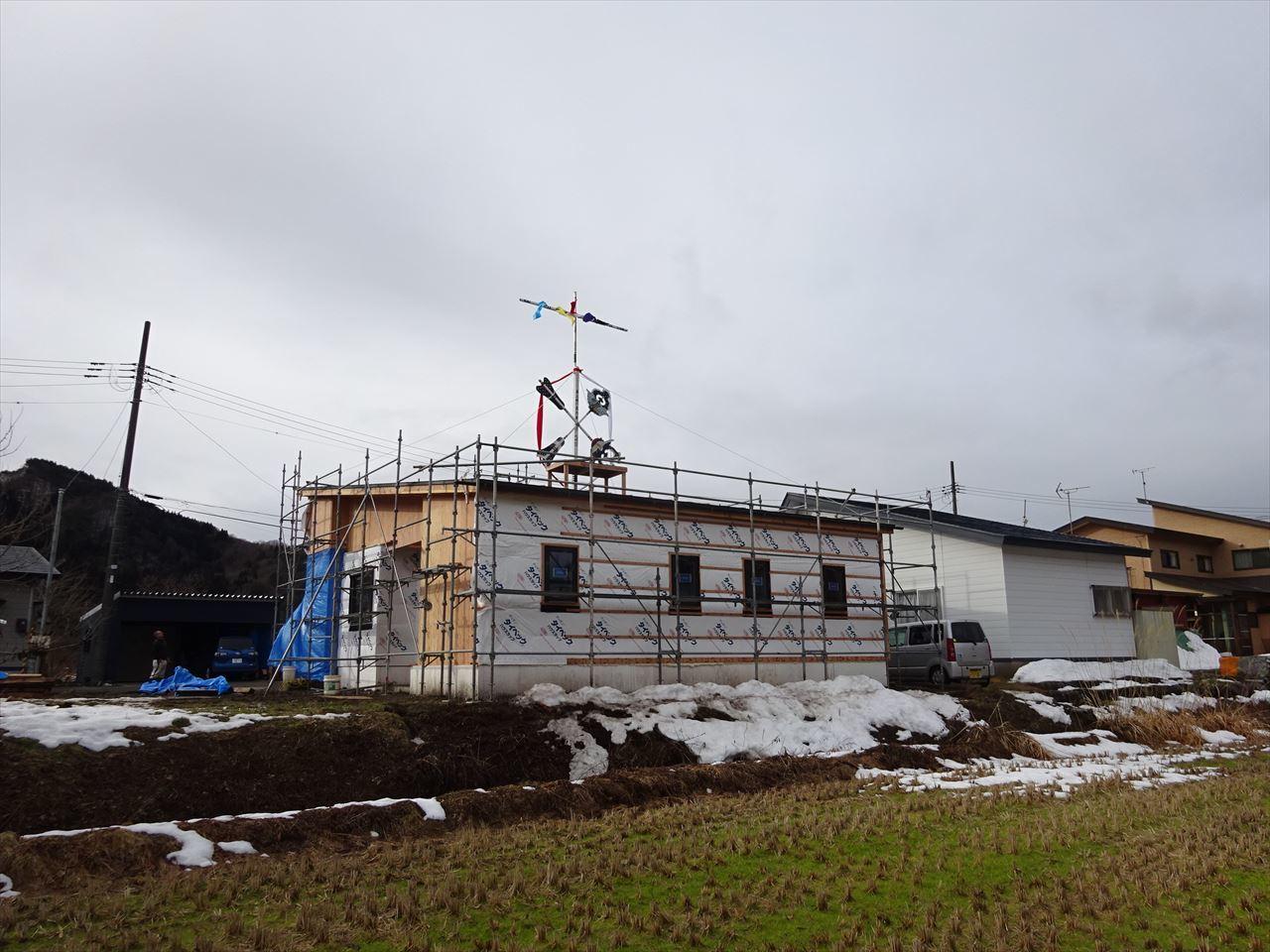 田沢湖の家 上棟式を執り行いました!_f0105112_16303545.jpg